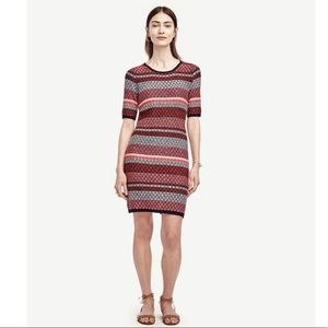 NWT Ann Taylor Petites striped sweater dress